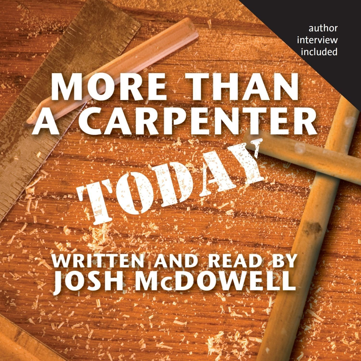 Printable More Than a Carpenter Today Audiobook Cover Art