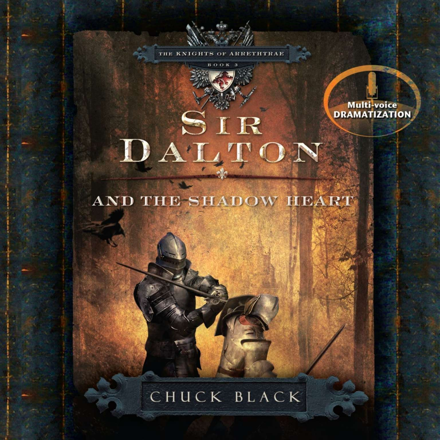 Printable Sir Dalton and the Shadow Heart Audiobook Cover Art