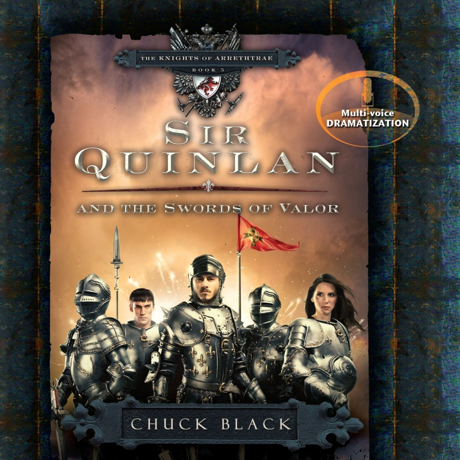 Printable Sir Quinlan and the Swords of Valor Audiobook Cover Art