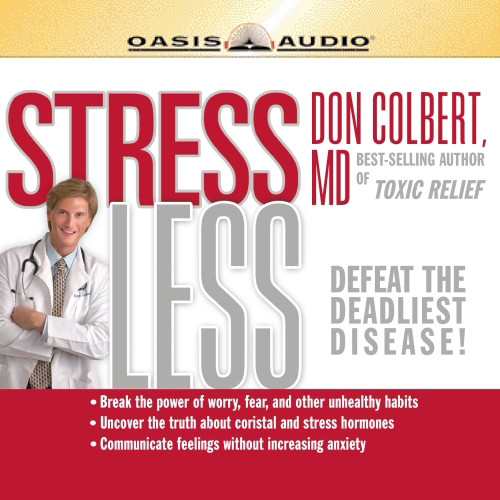 Printable Stress Less Audiobook Cover Art