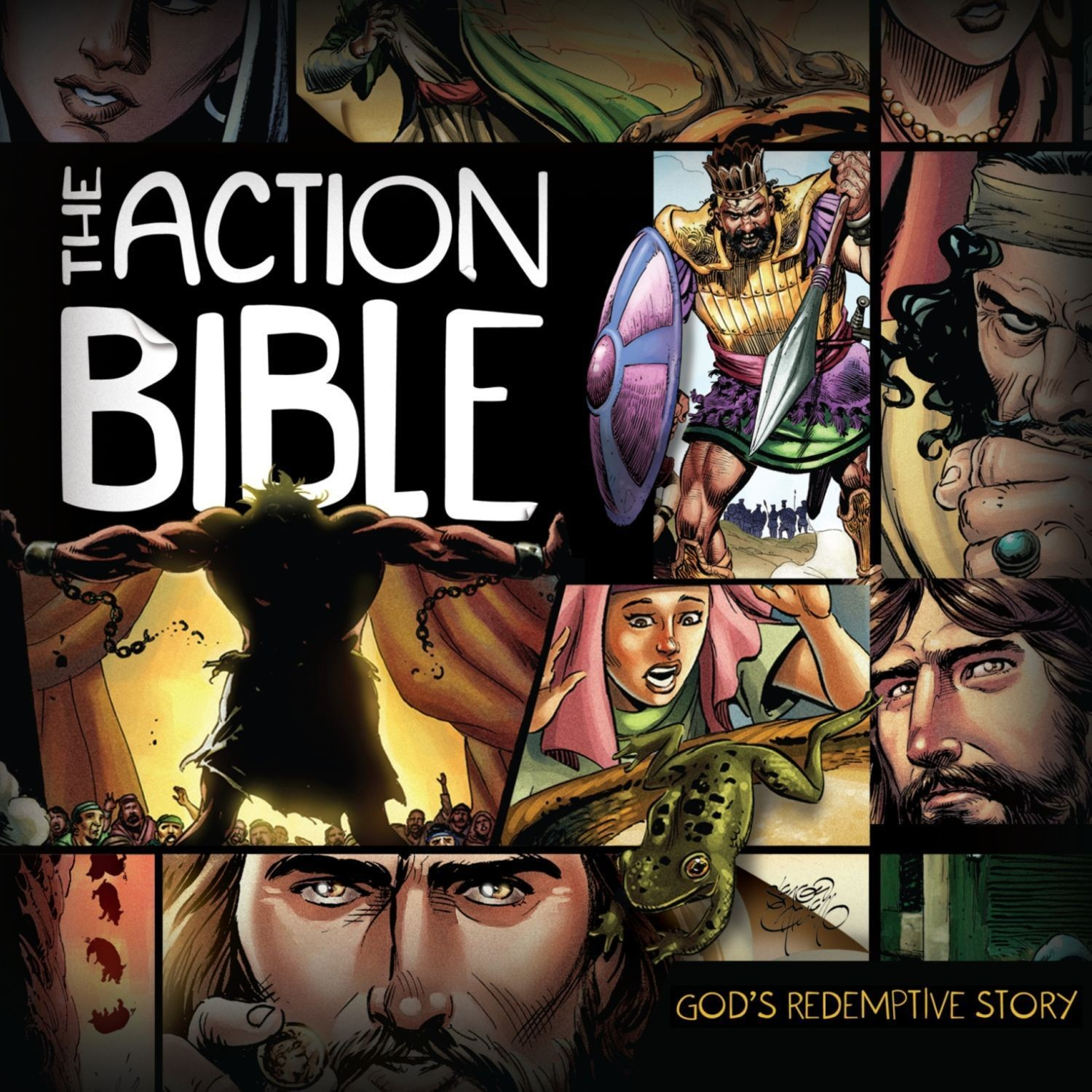 Printable The Action Bible Audiobook Cover Art