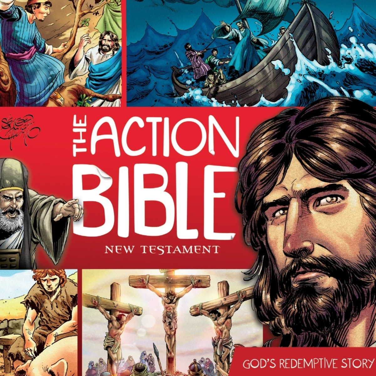 Printable The Action Bible New Testament: God's Redemptive Story Audiobook Cover Art