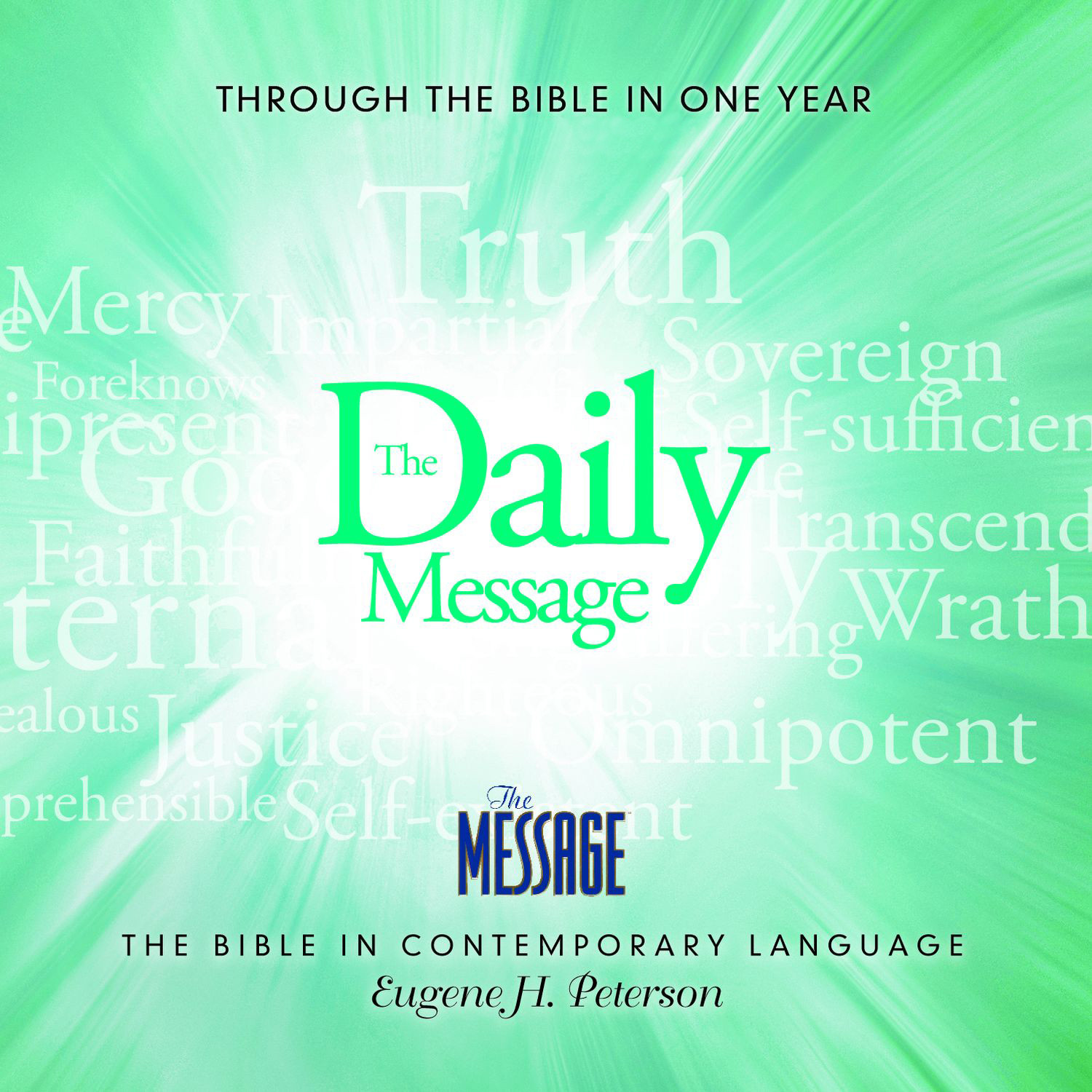 Printable The Daily Message: Through the Bible in One Year Audiobook Cover Art