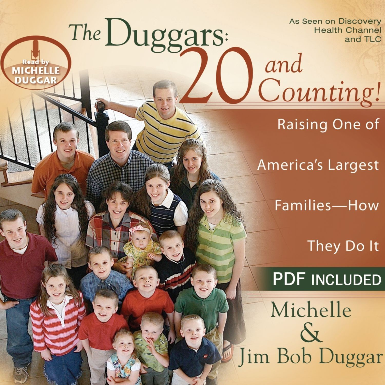 Printable The Duggars: 20 and Counting!: Raising One of America's Largest Families--How they Do It Audiobook Cover Art