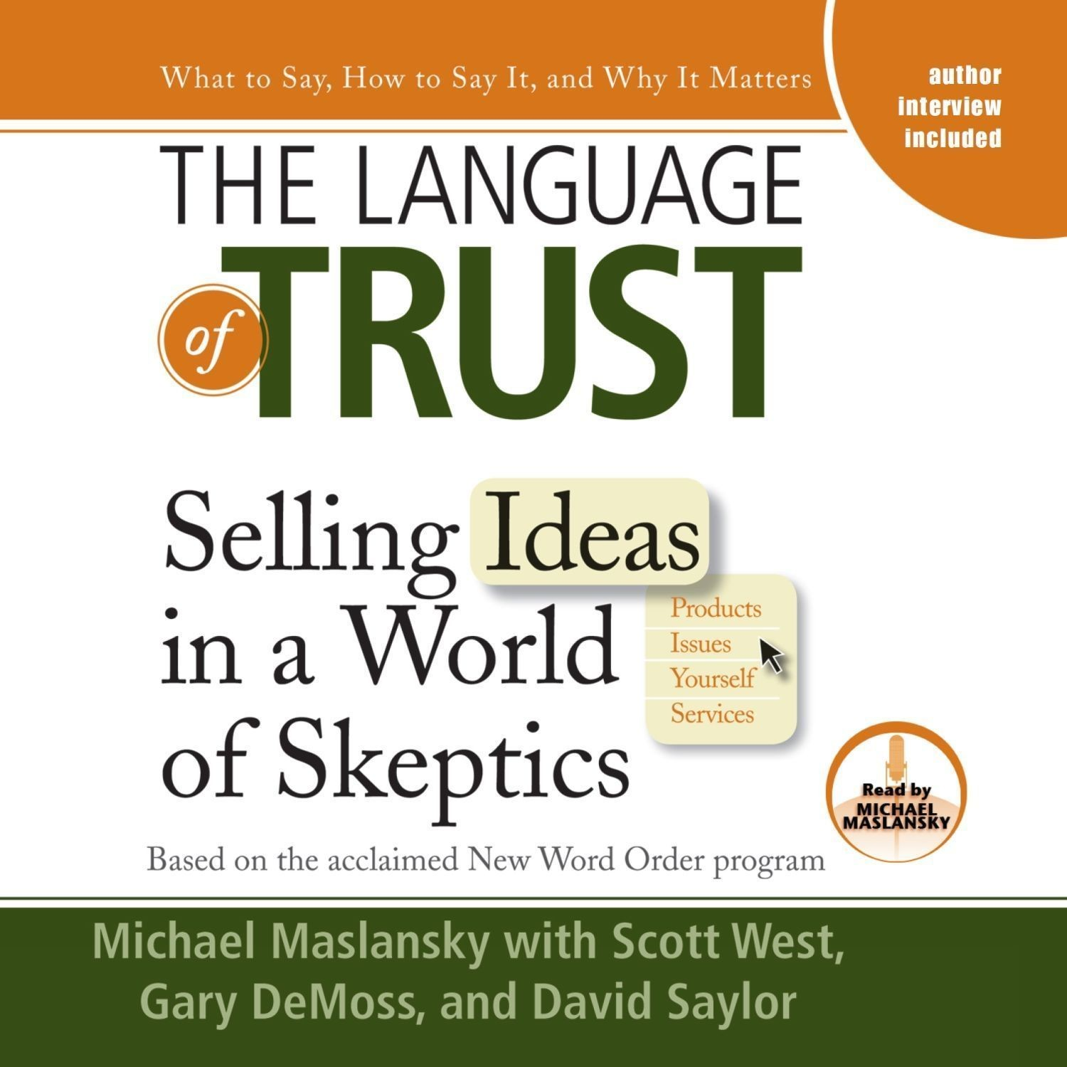 Printable The Language of Trust: Selling Ideas in a World of Skeptics Audiobook Cover Art