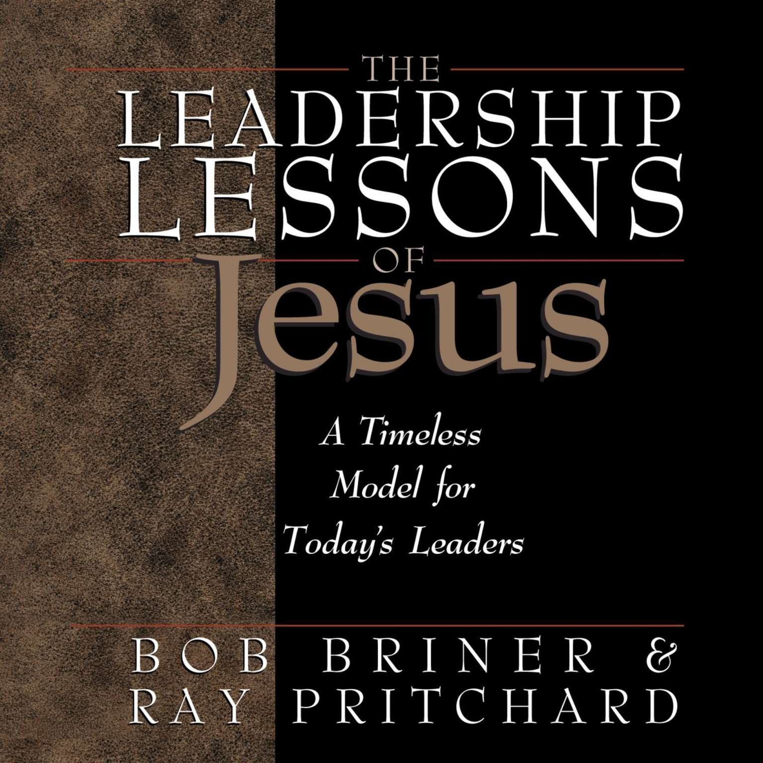 Printable The Leadership Lessons of Jesus Audiobook Cover Art