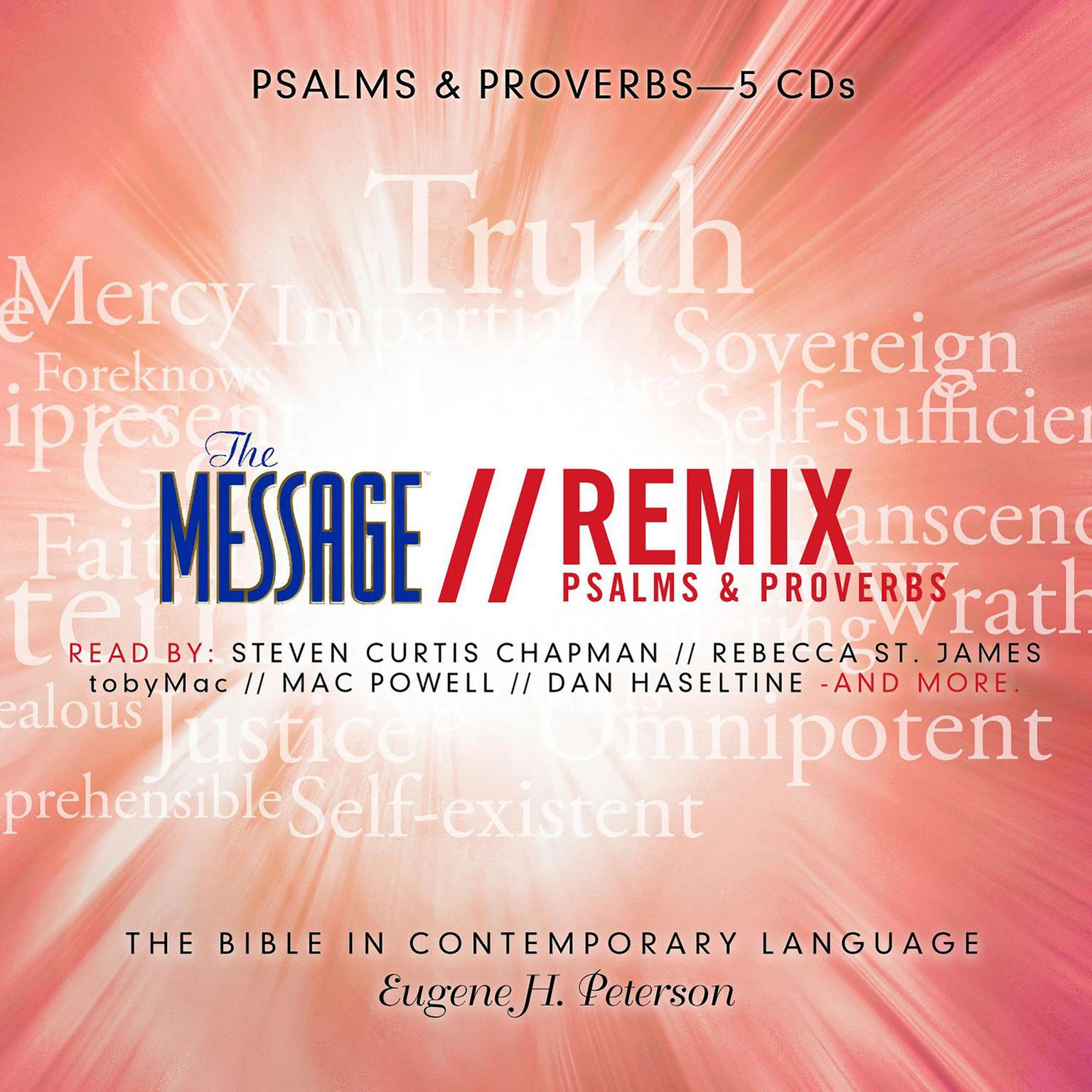 Printable The Message Bible Remix Psalms & Proverbs Audiobook Cover Art