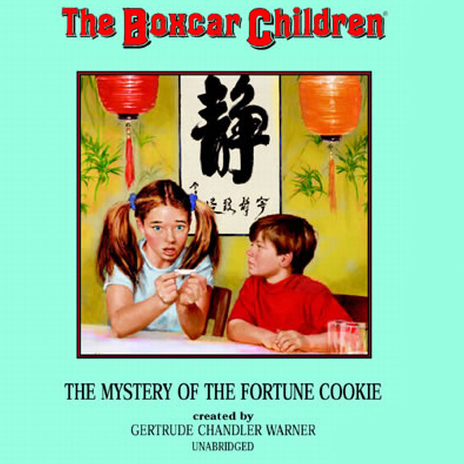Printable The Mystery in the Fortune Cookie Audiobook Cover Art