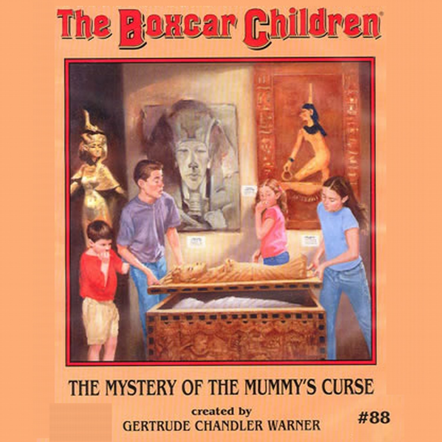 Printable The Mystery of the Mummy's Curse Audiobook Cover Art