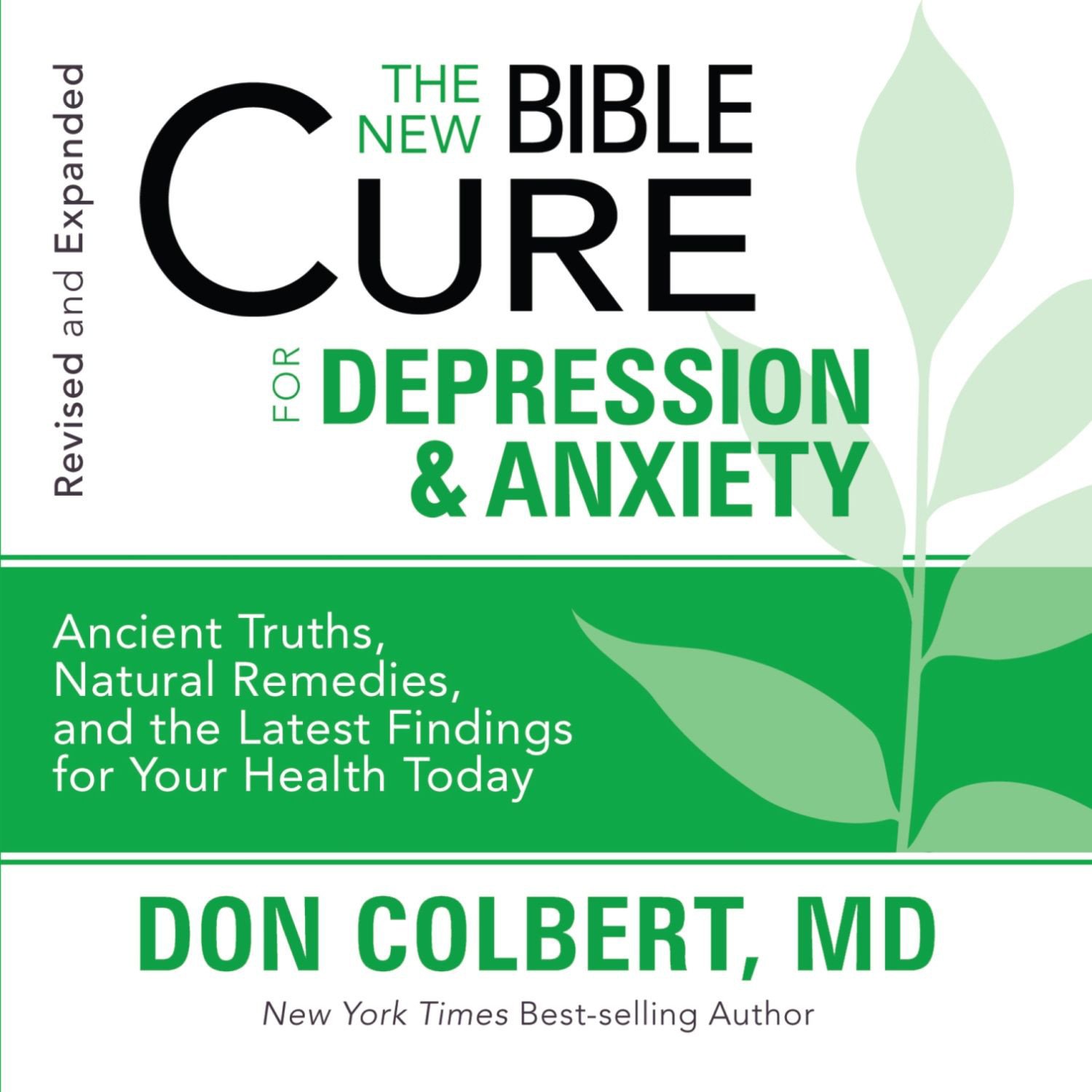Printable The New Bible Cure for Depression and Anxiety Audiobook Cover Art