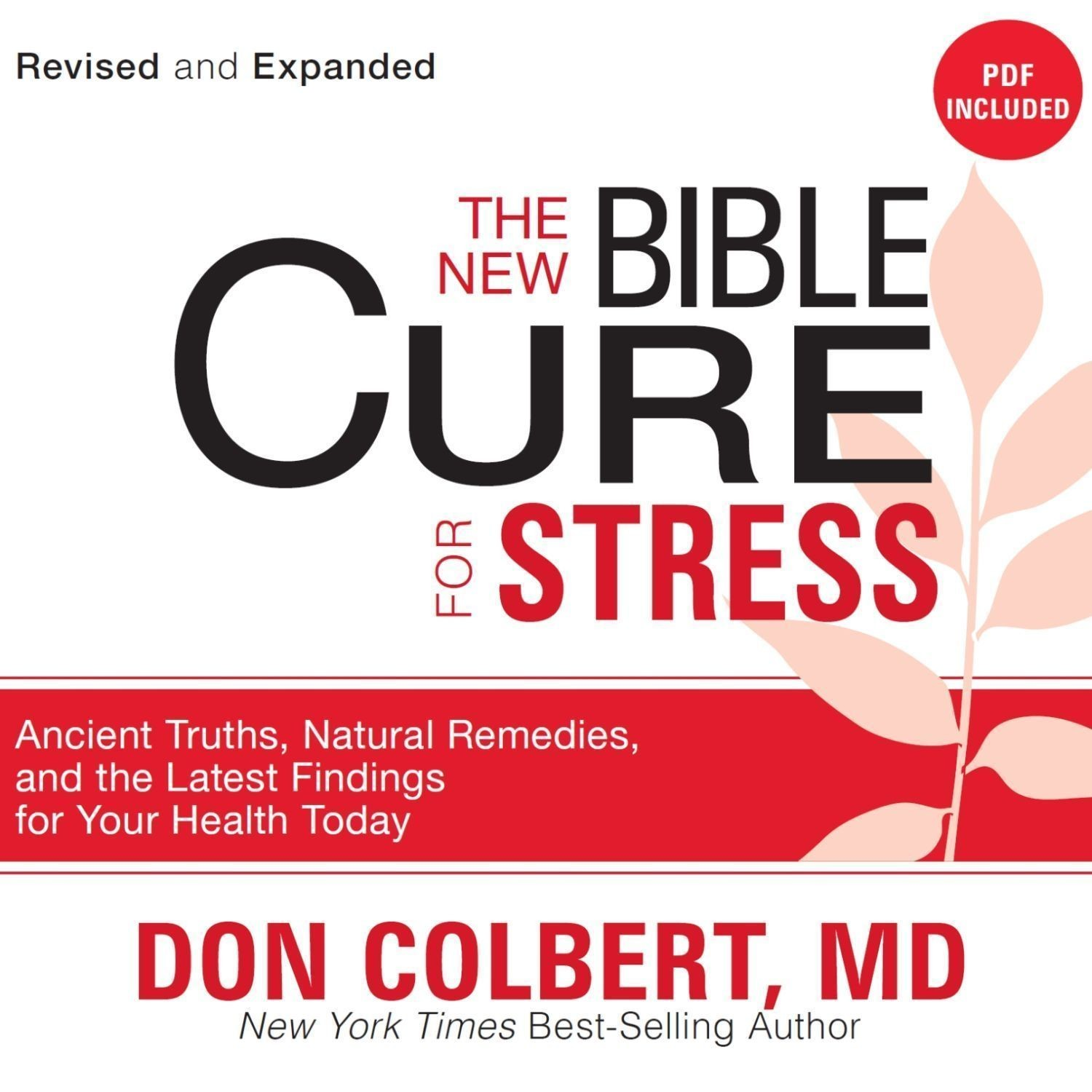 Printable The New Bible Cure for Stress: Ancient Truths, Natural Remedies, and the Latest Findings for Your Health Today Audiobook Cover Art