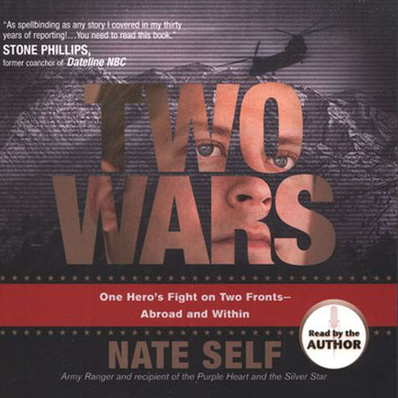 Printable Two Wars: One Hero's Fight on Two Fronts--Abroad and Within Audiobook Cover Art