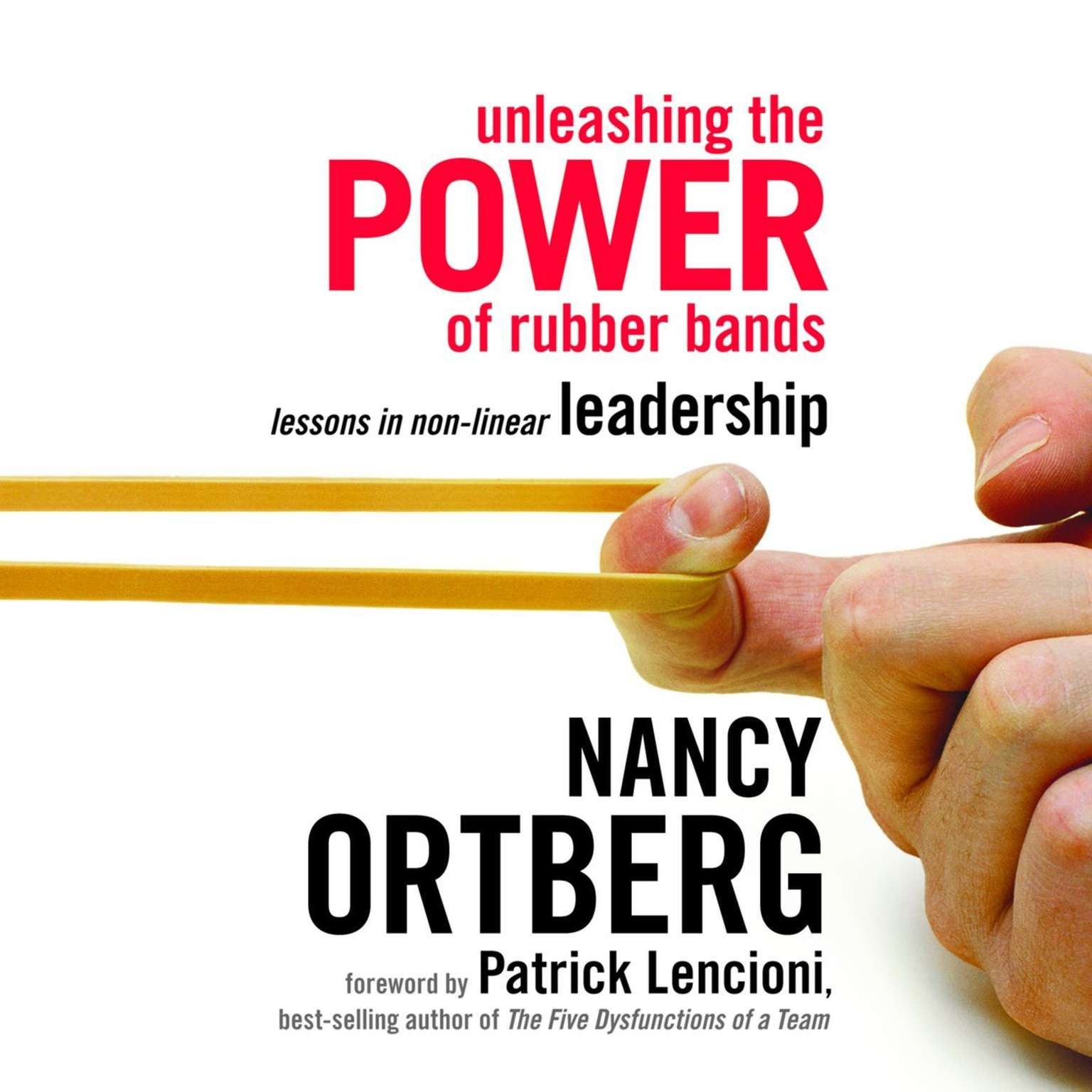Printable Unleashing the Power of Rubber Bands: Lessons in Non-linear Leadership Audiobook Cover Art