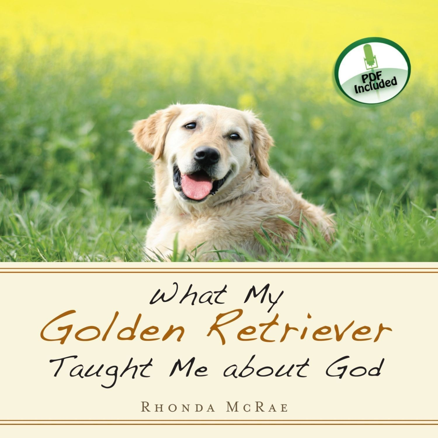 Printable What My Golden Retriever Taught Me about God Audiobook Cover Art