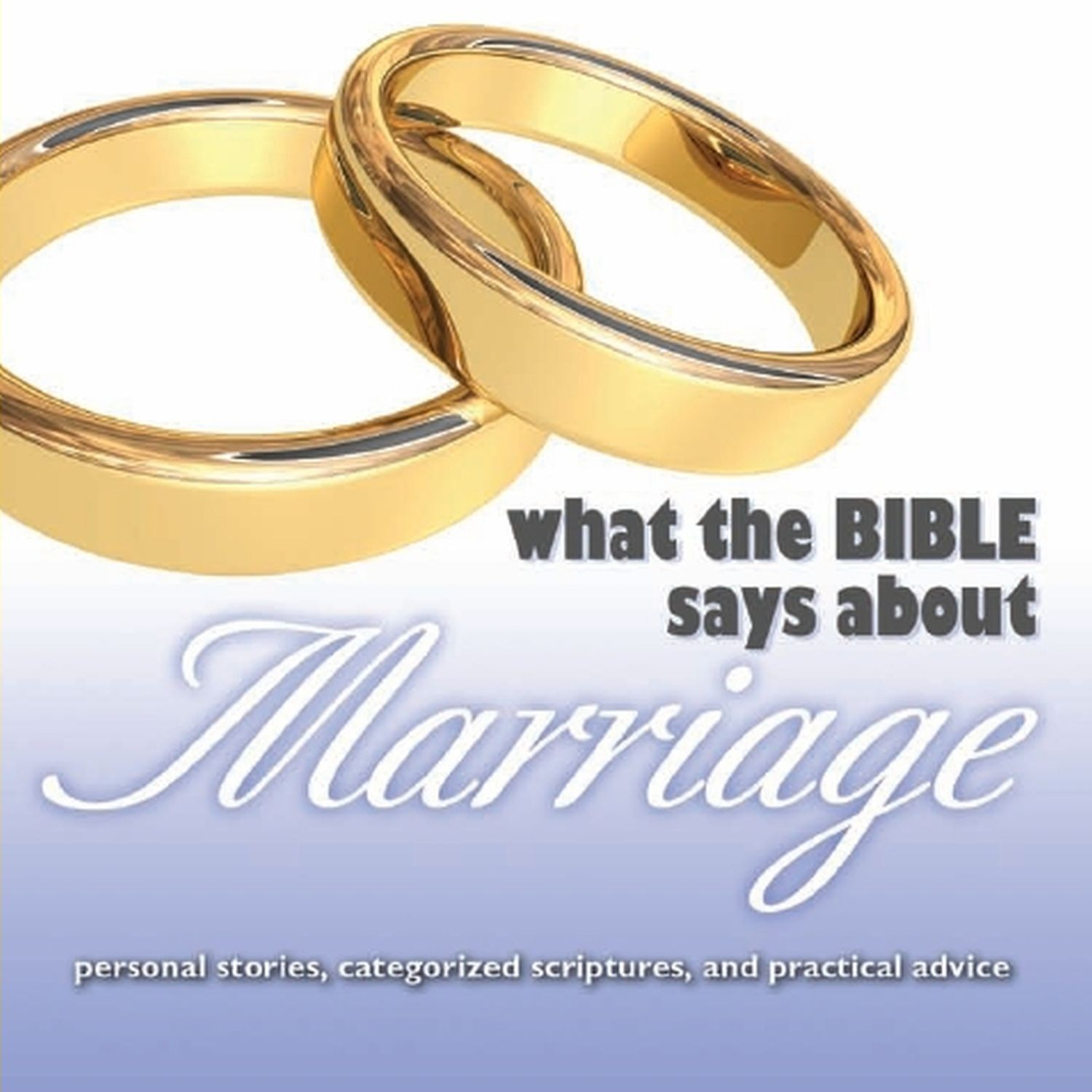 Printable What the Bible Says about Marriage Audiobook Cover Art