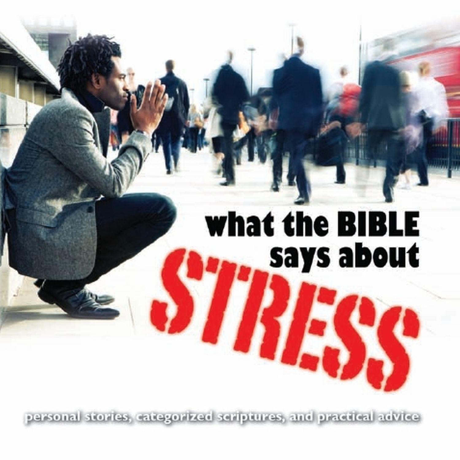Printable What the Bible Says about Stress Audiobook Cover Art