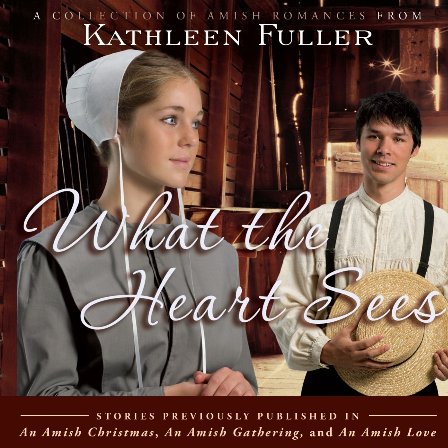 Printable What the Heart Sees: A Collection of Amish Romances Audiobook Cover Art