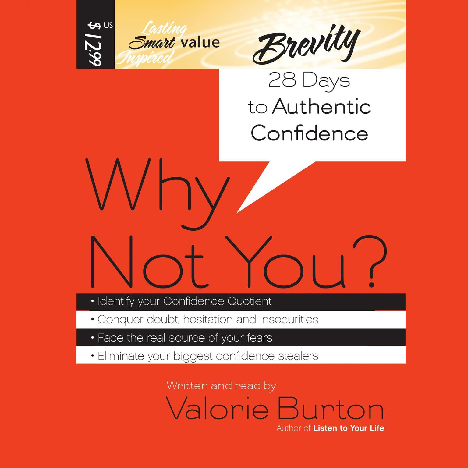 Printable Why Not You?: 28 Days to Authentic Confidence Audiobook Cover Art