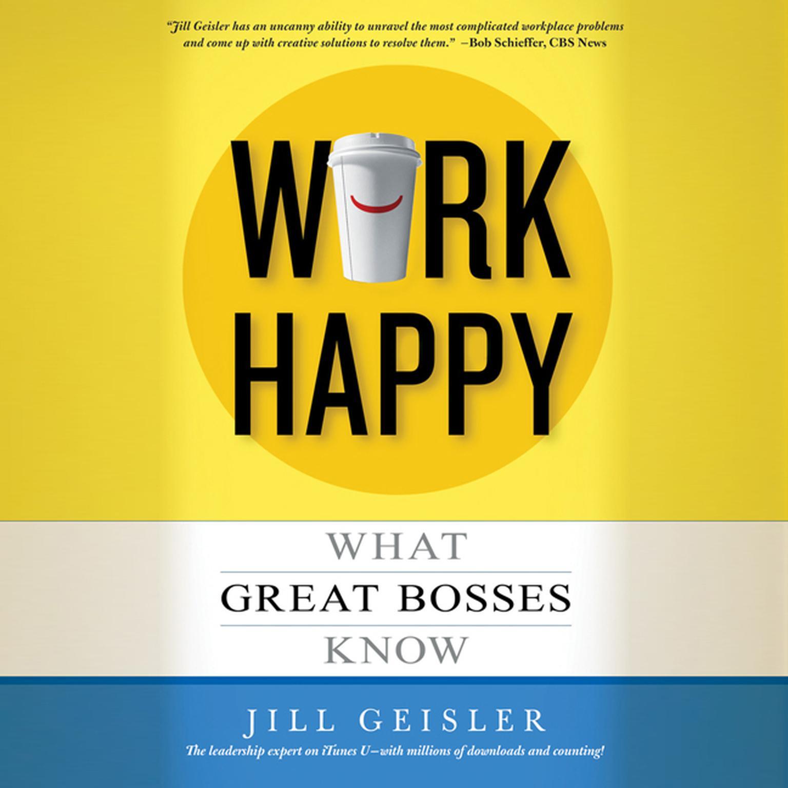 Printable Work Happy Audiobook Cover Art