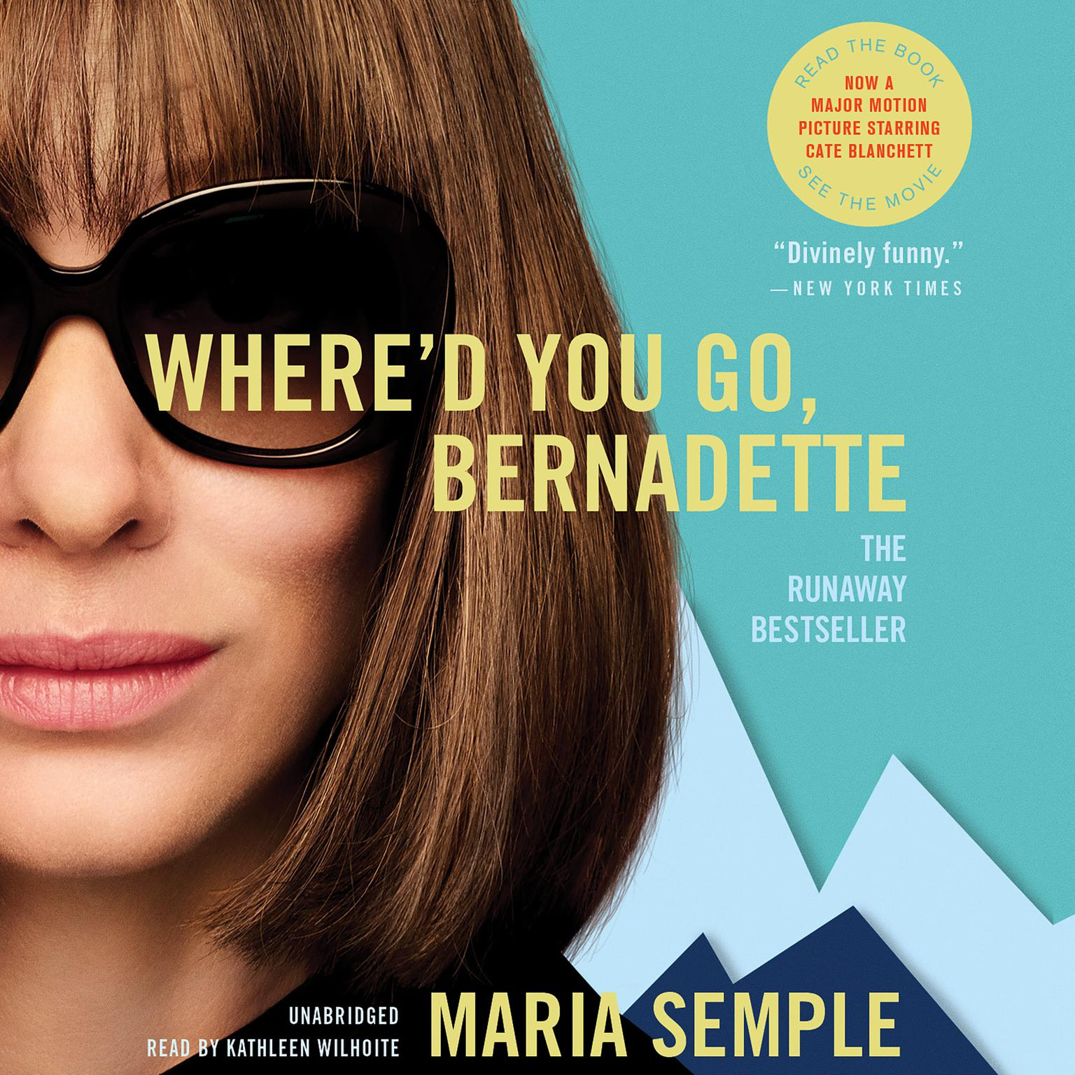 Printable Where'd You Go, Bernadette: A Novel Audiobook Cover Art