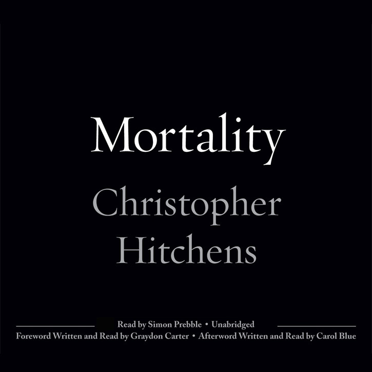 Printable Mortality Audiobook Cover Art