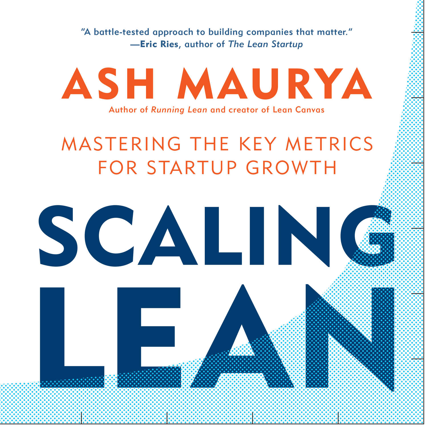 Printable Scaling Lean: Mastering the Key Metrics for Startup Growth Audiobook Cover Art