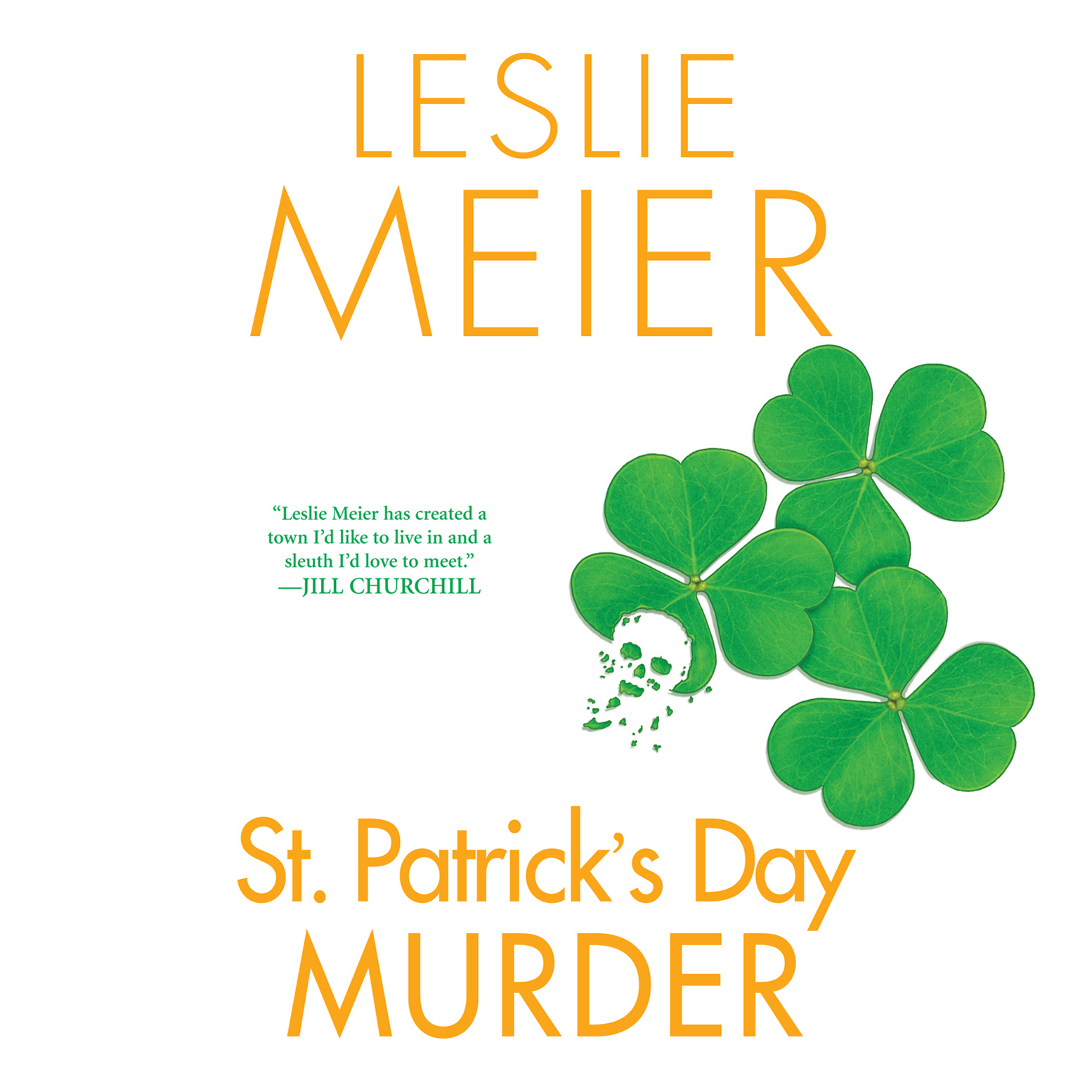 Printable St. Patrick's Day Murder Audiobook Cover Art