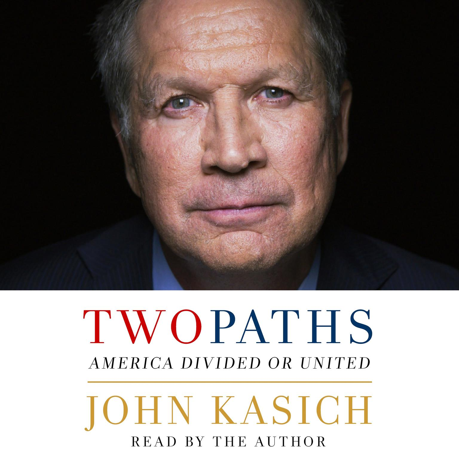 Printable Two Paths: America Divided or United Audiobook Cover Art