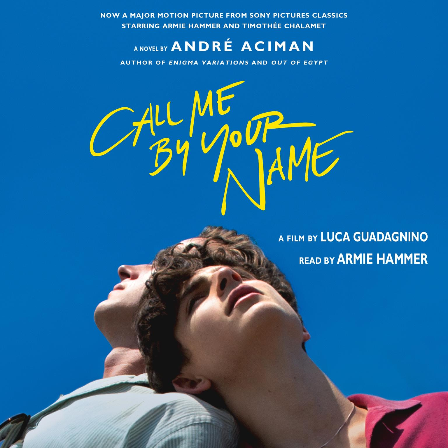 Printable Call Me by Your Name: A Novel Audiobook Cover Art