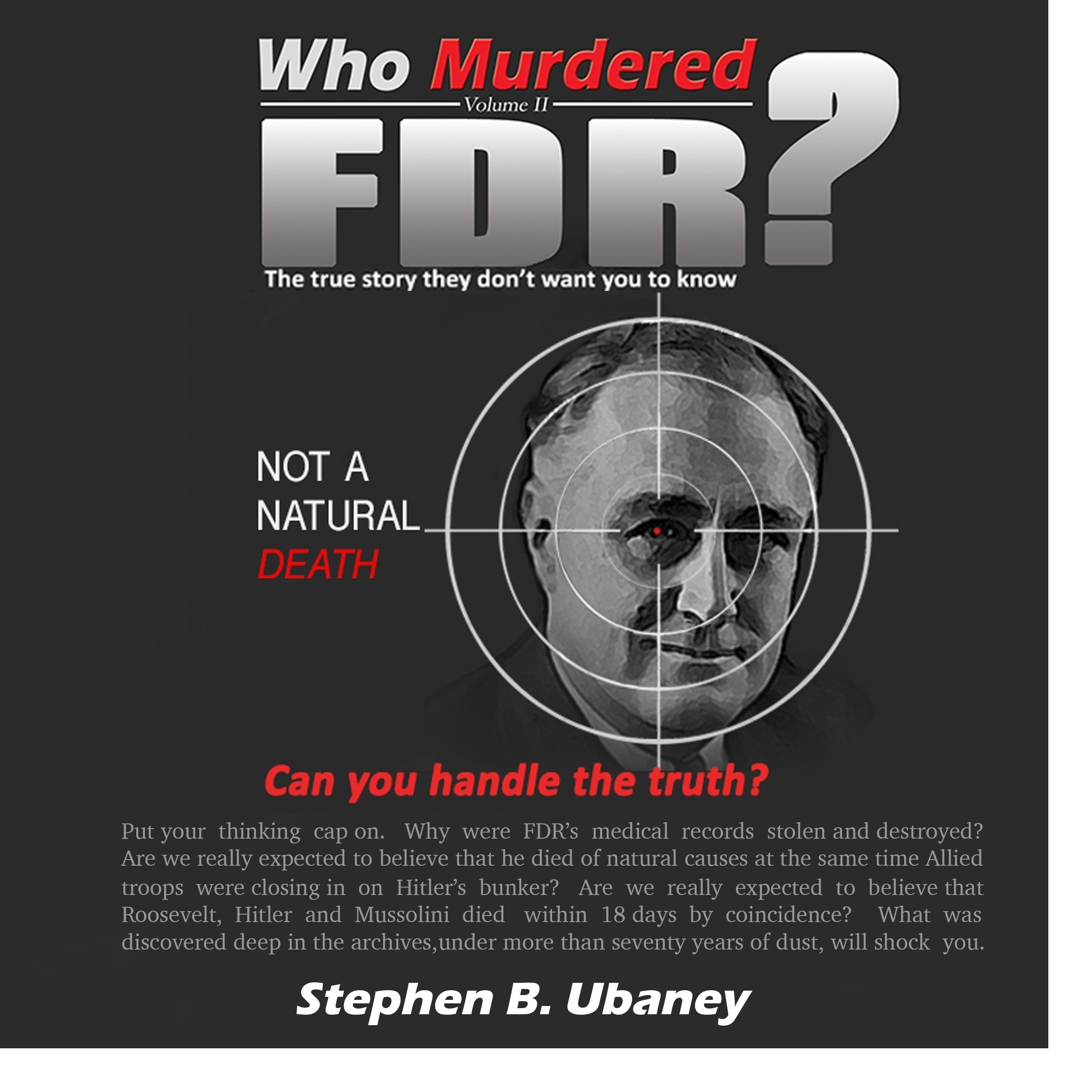 Printable Who Murdered FDR? Audiobook Cover Art