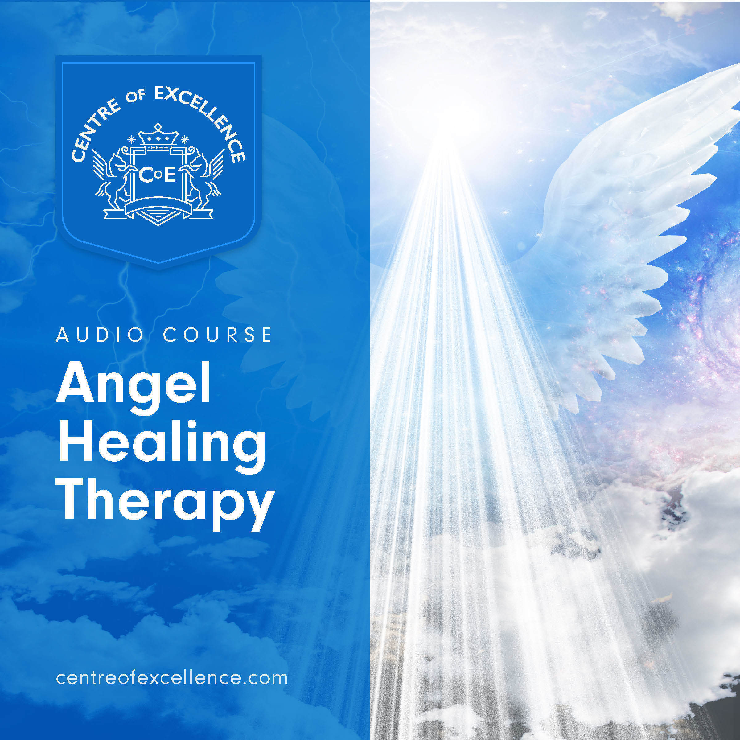 Printable Angel Healing Therapy Audiobook Cover Art
