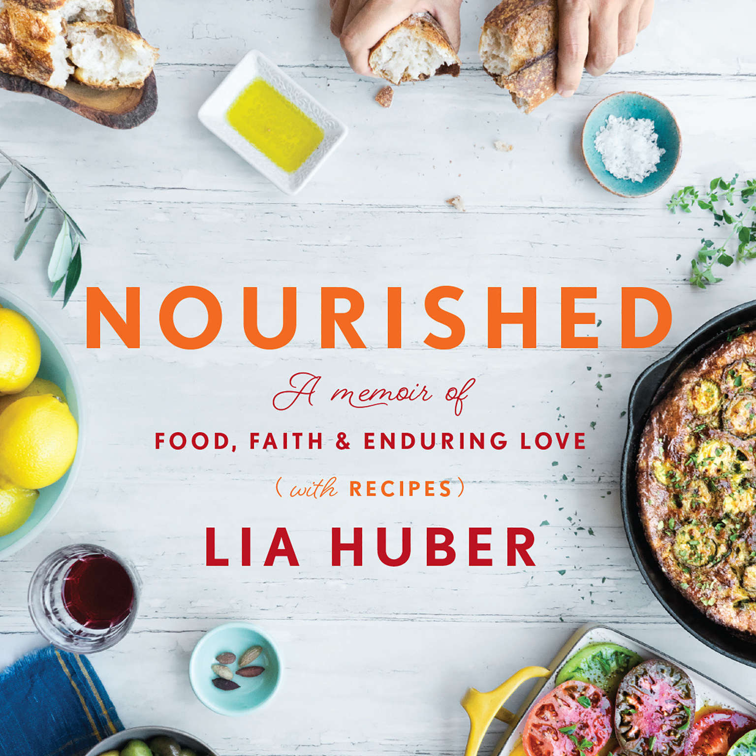 Printable Nourished: A Memoir of Food, Faith & Enduring Love (with Recipes) Audiobook Cover Art
