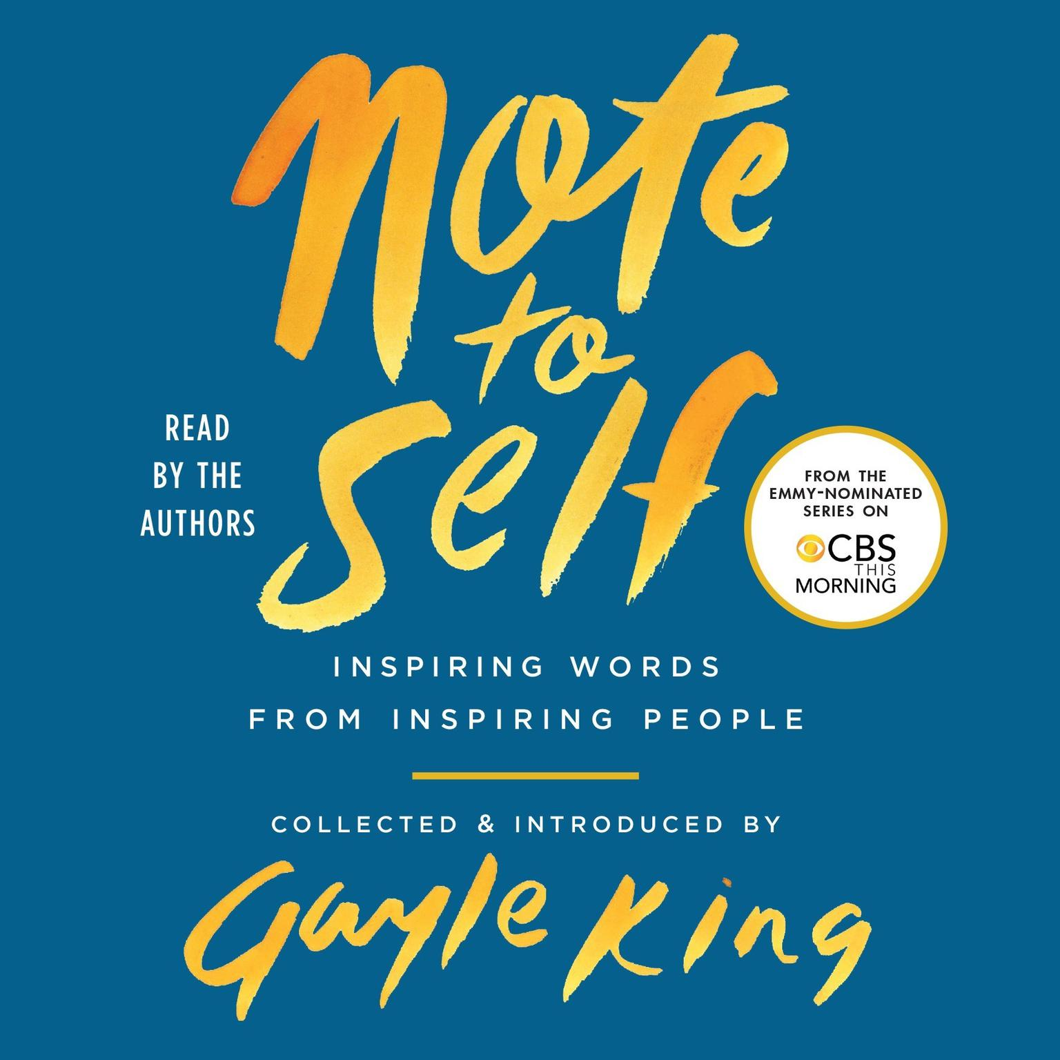 Printable Note to Self: Inspiring Words From Inspiring People Audiobook Cover Art