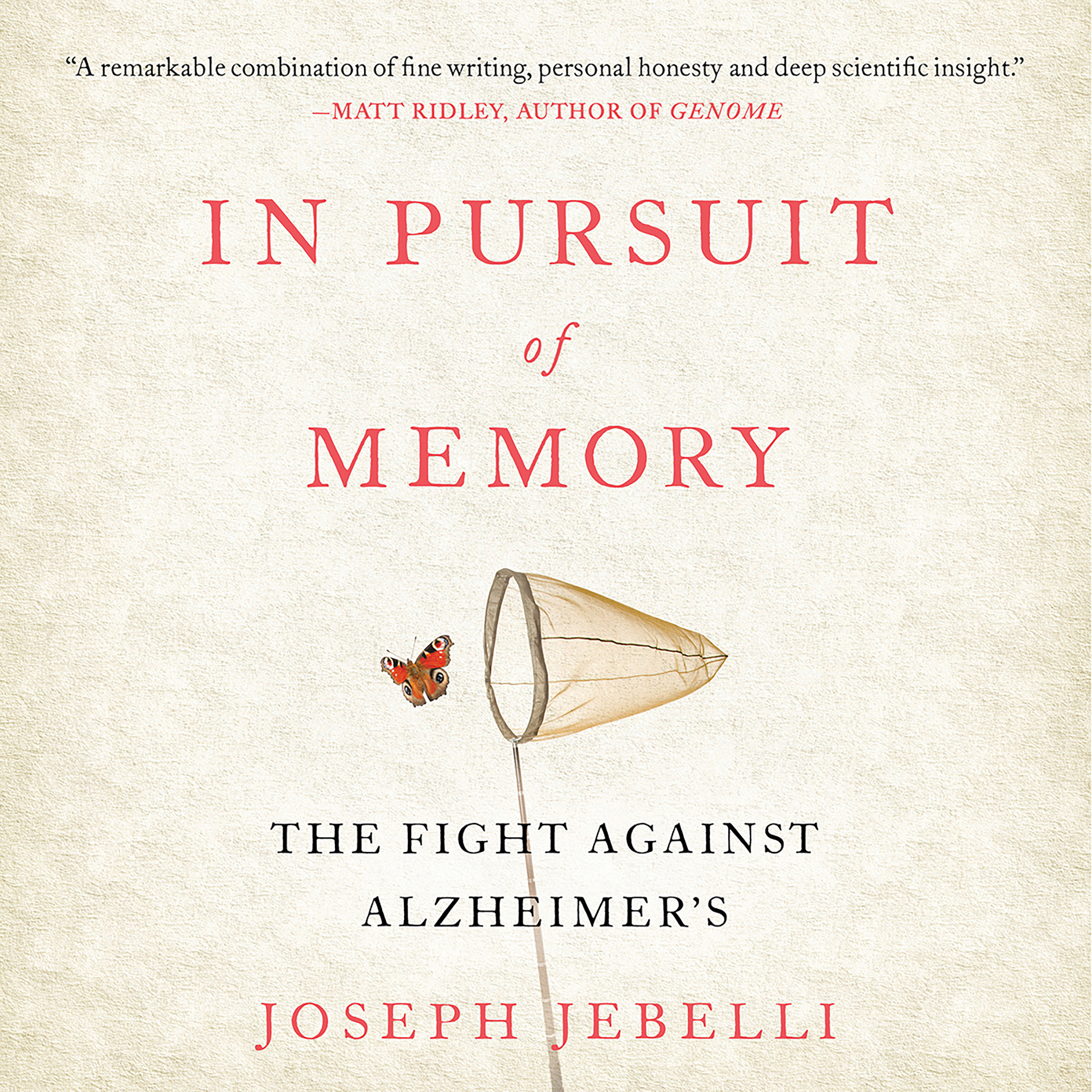 Printable In Pursuit of Memory: The Fight Against Alzheimer's Audiobook Cover Art