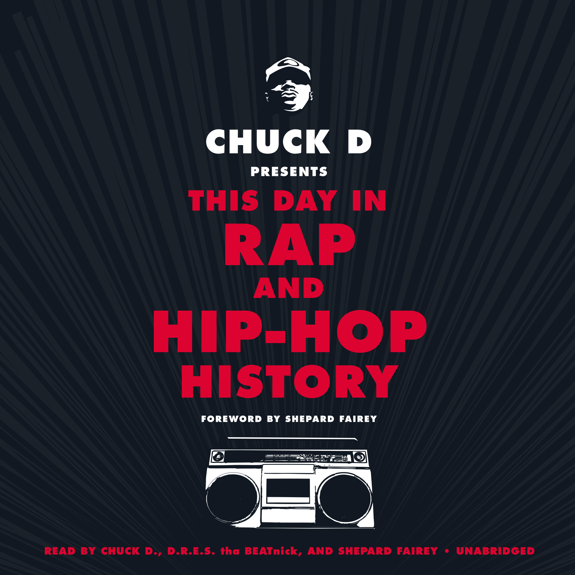 Printable Chuck D. Presents This Day in Rap and Hip-Hop History Audiobook Cover Art
