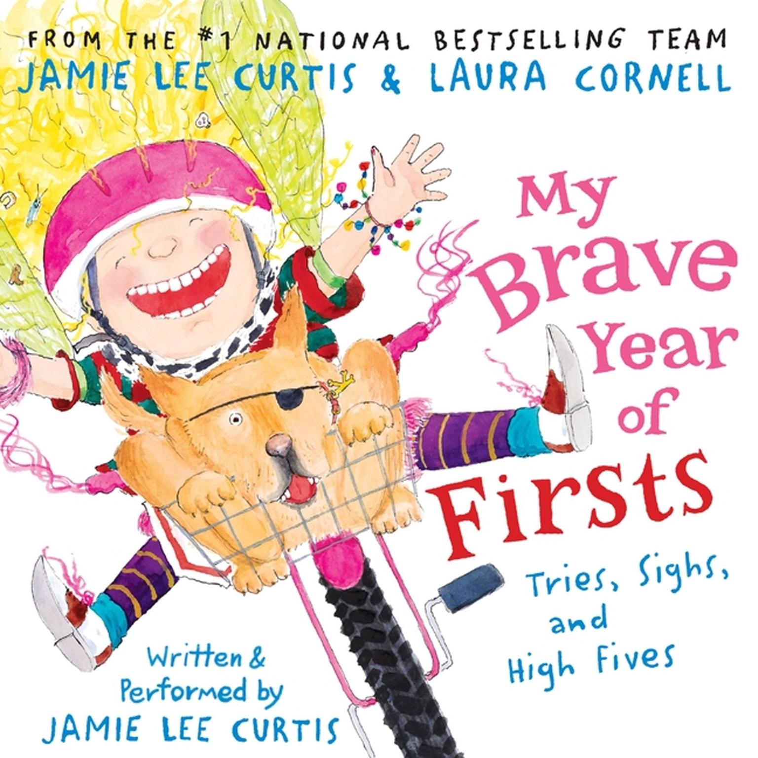 Printable My Brave Year of Firsts: Tries, Sighs, and High Fives Audiobook Cover Art