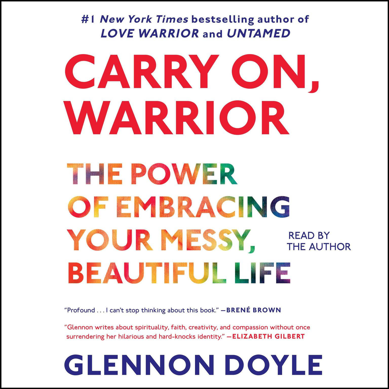 Printable Carry On, Warrior: The Momastery Way to Let Go, Love One Another, and Build a Life Audiobook Cover Art