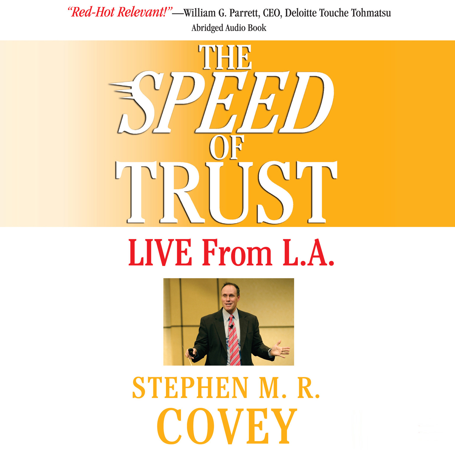 Printable The Speed of Trust: Live from LA Audiobook Cover Art