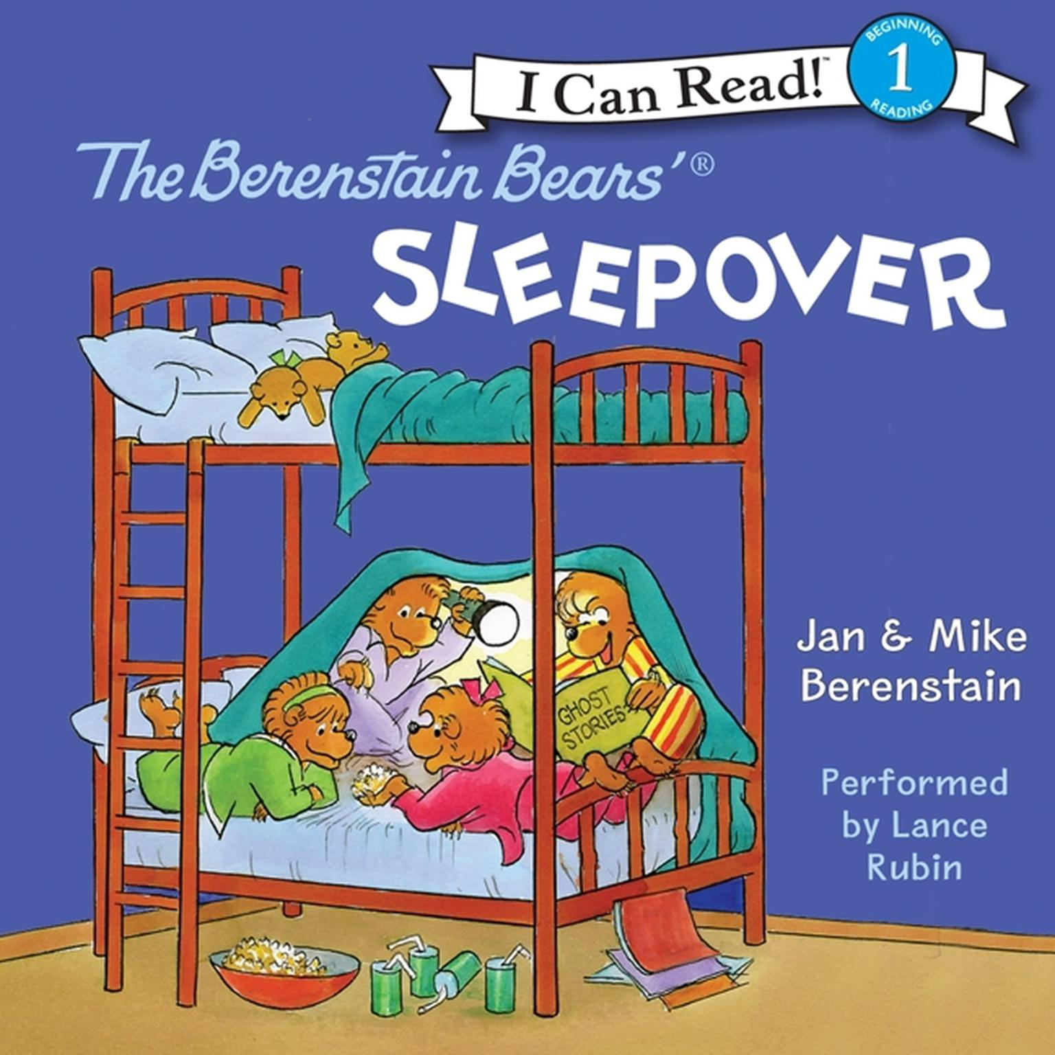 Printable The Berenstain Bears' Sleepover Audiobook Cover Art