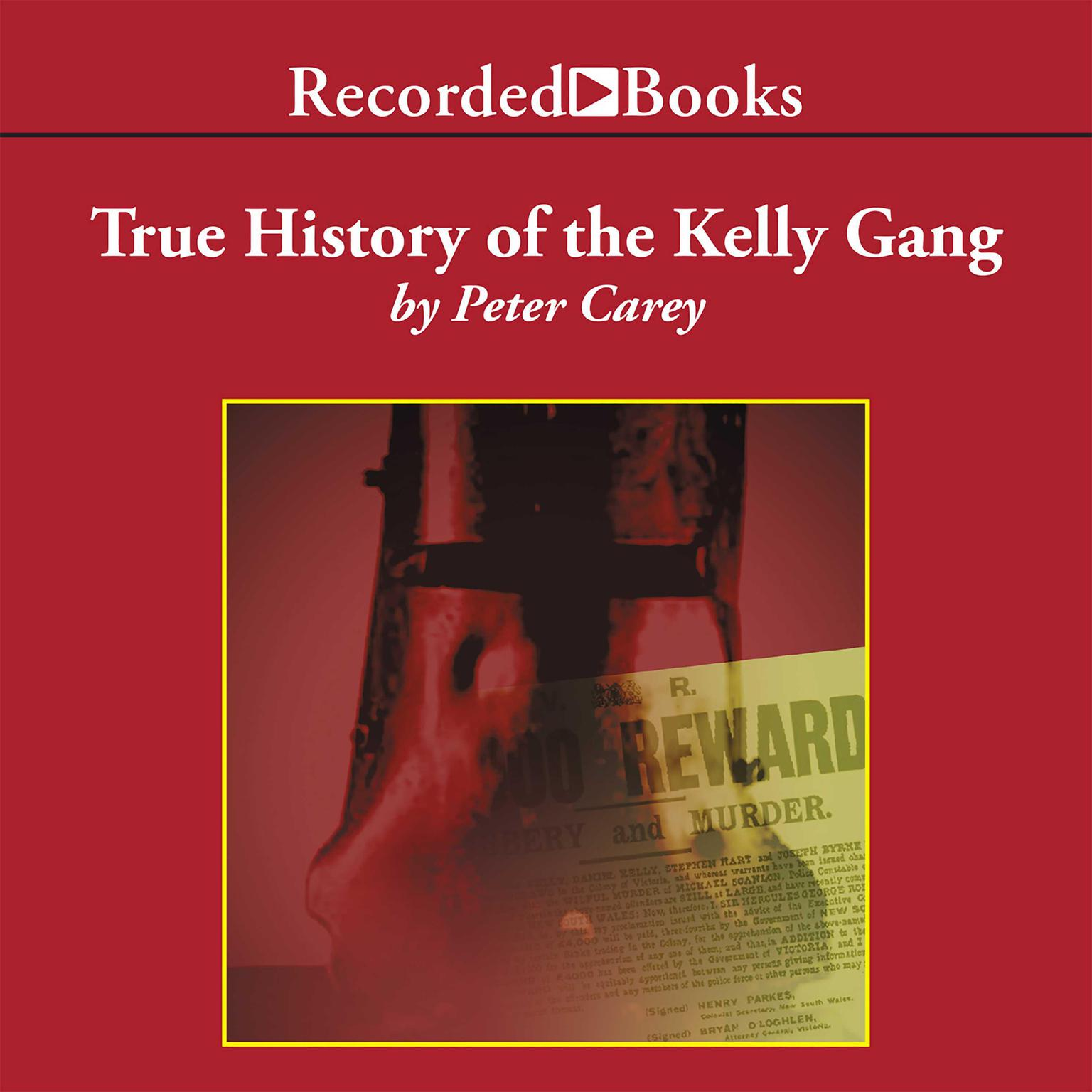 Printable True History of the Kelly Gang Audiobook Cover Art