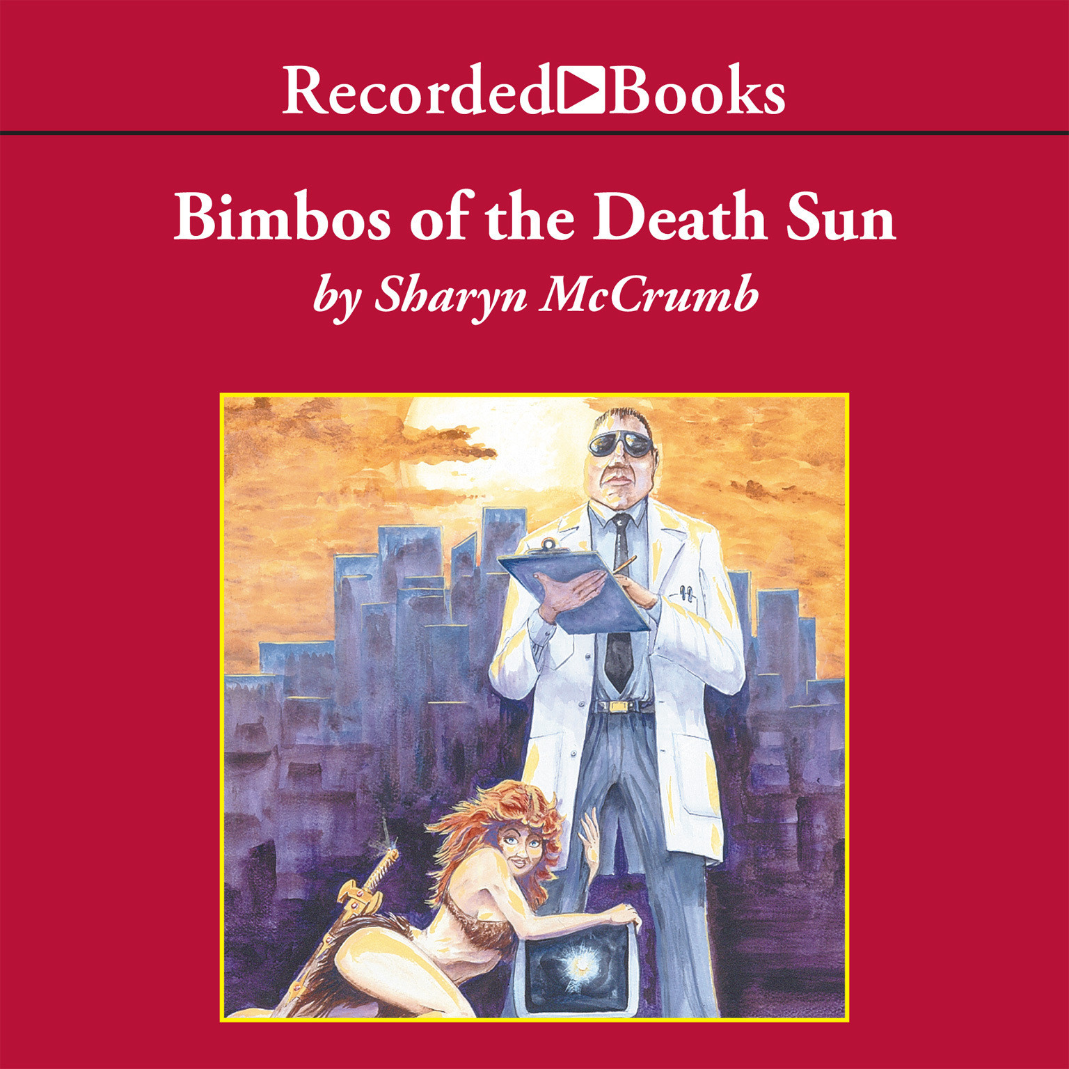 Printable Bimbos of the Death Sun Audiobook Cover Art