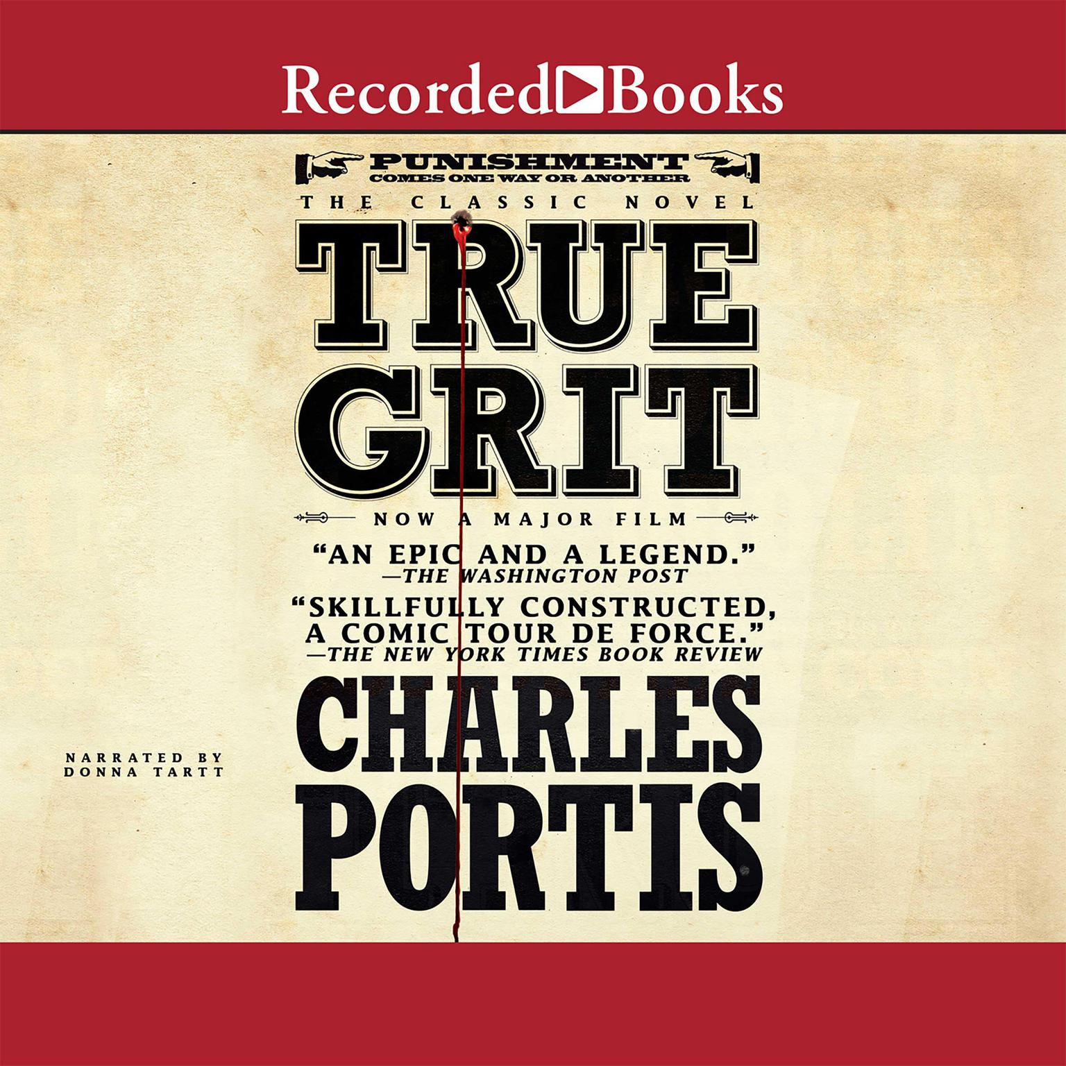 Printable True Grit Audiobook Cover Art