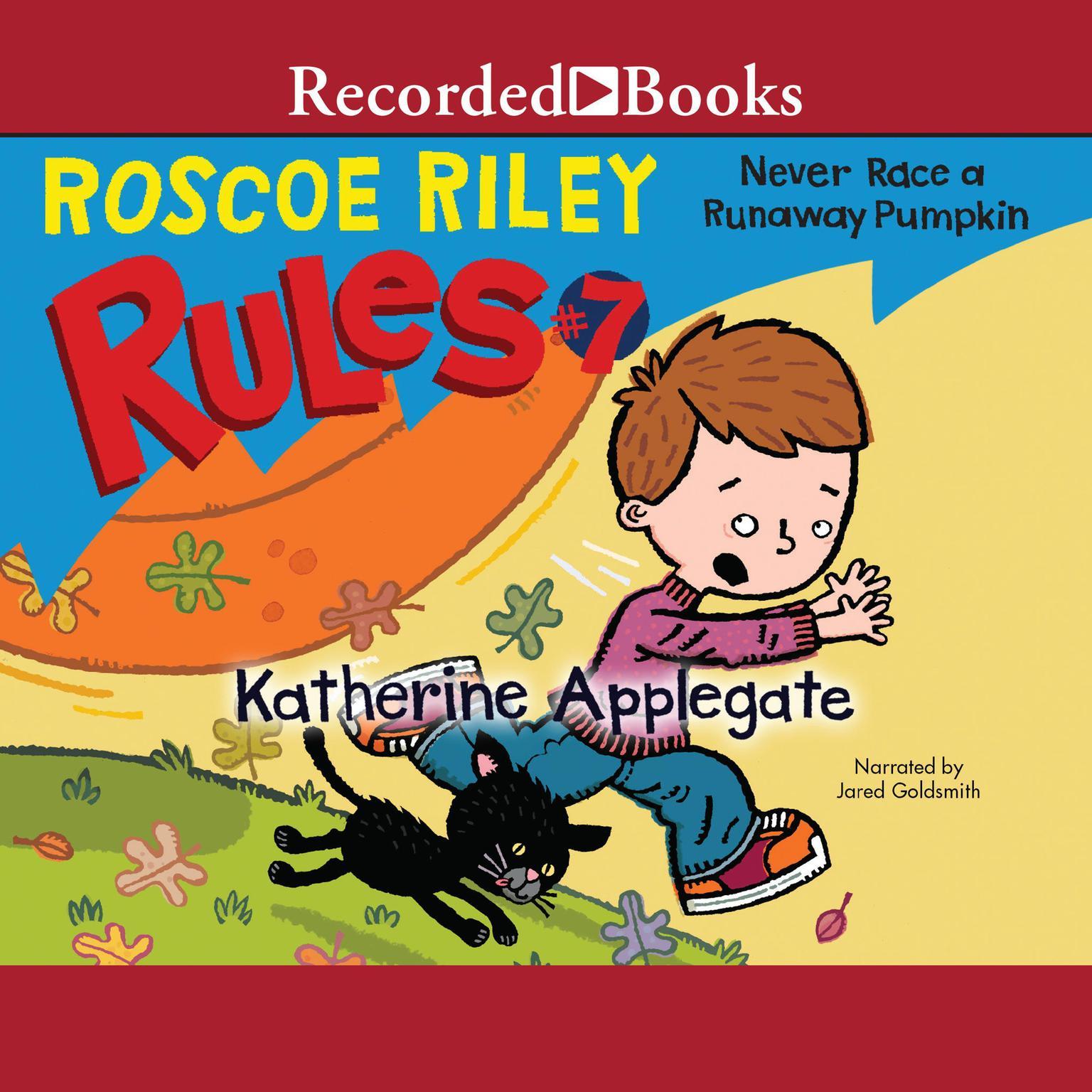 Printable Never Race a Runaway Pumpkin Audiobook Cover Art