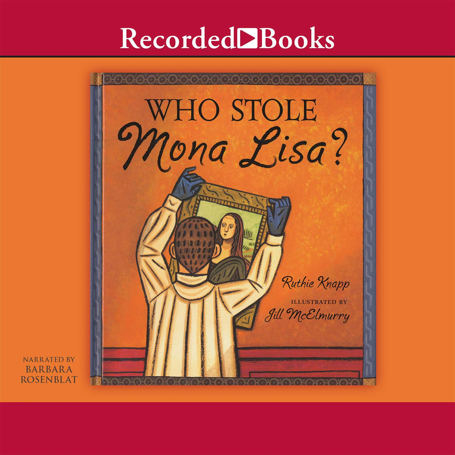 Printable Who Stole Mona Lisa? Audiobook Cover Art