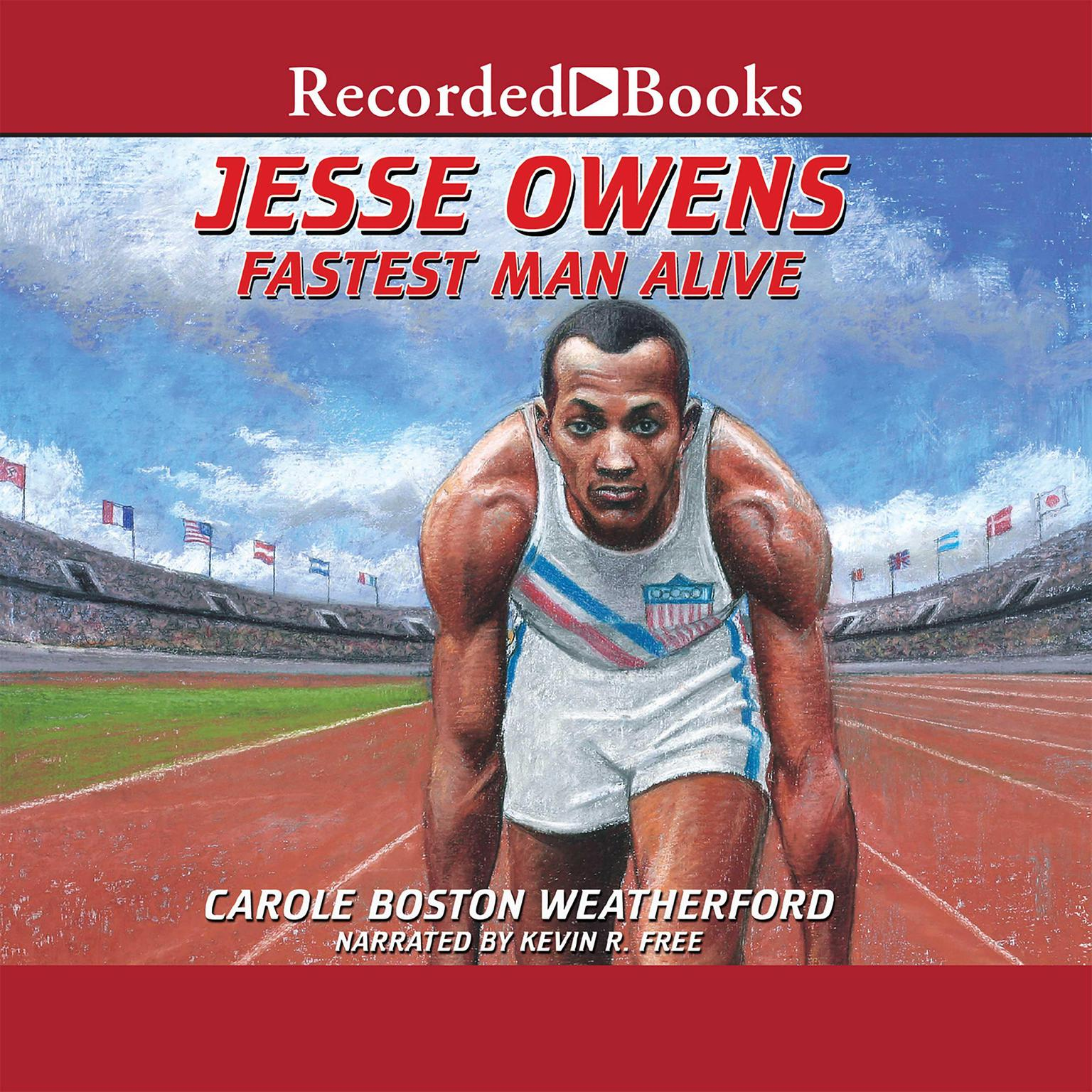 Printable Jesse Owens: Fastest Man Alive Audiobook Cover Art