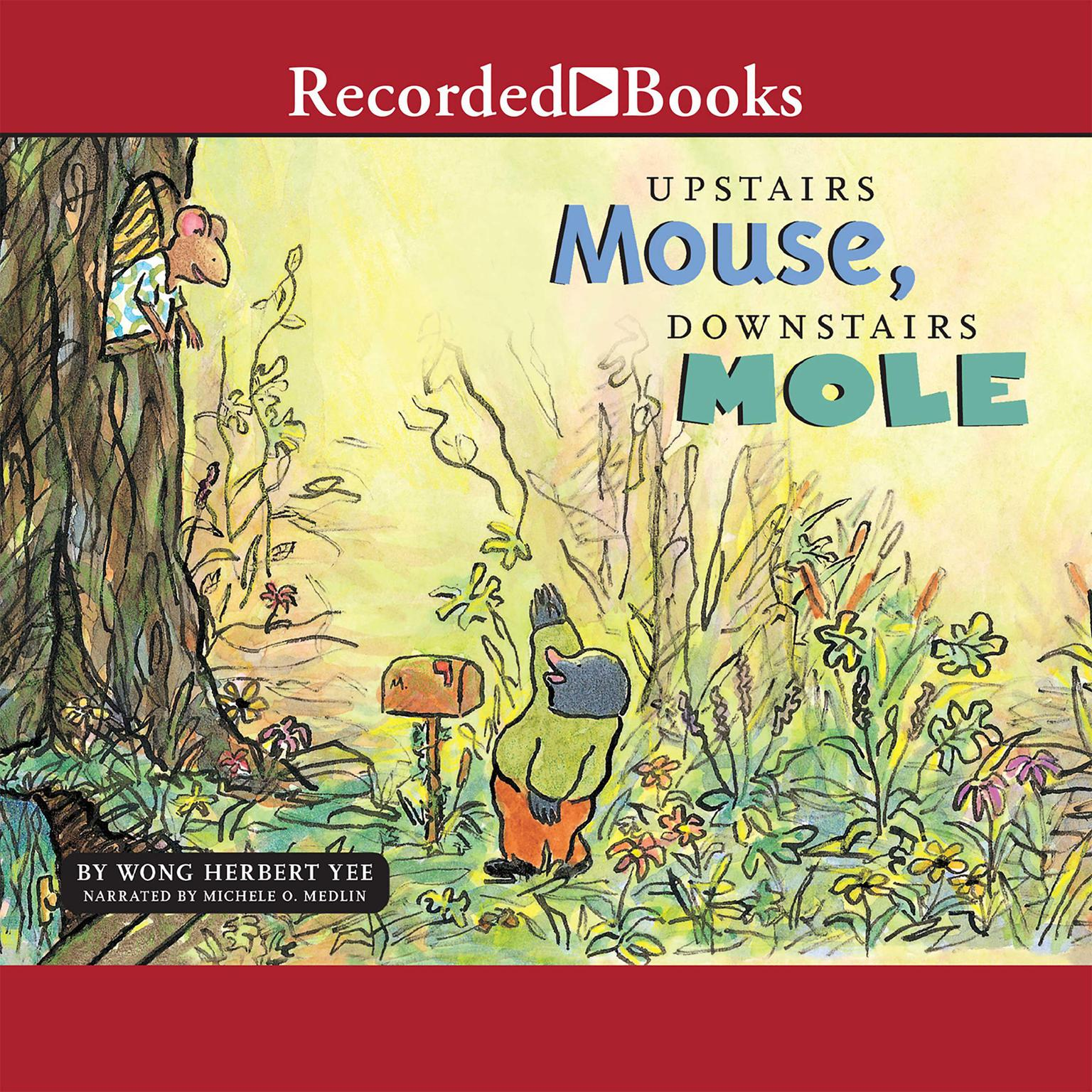 Printable Upstairs Mouse, Downstairs Mole Audiobook Cover Art
