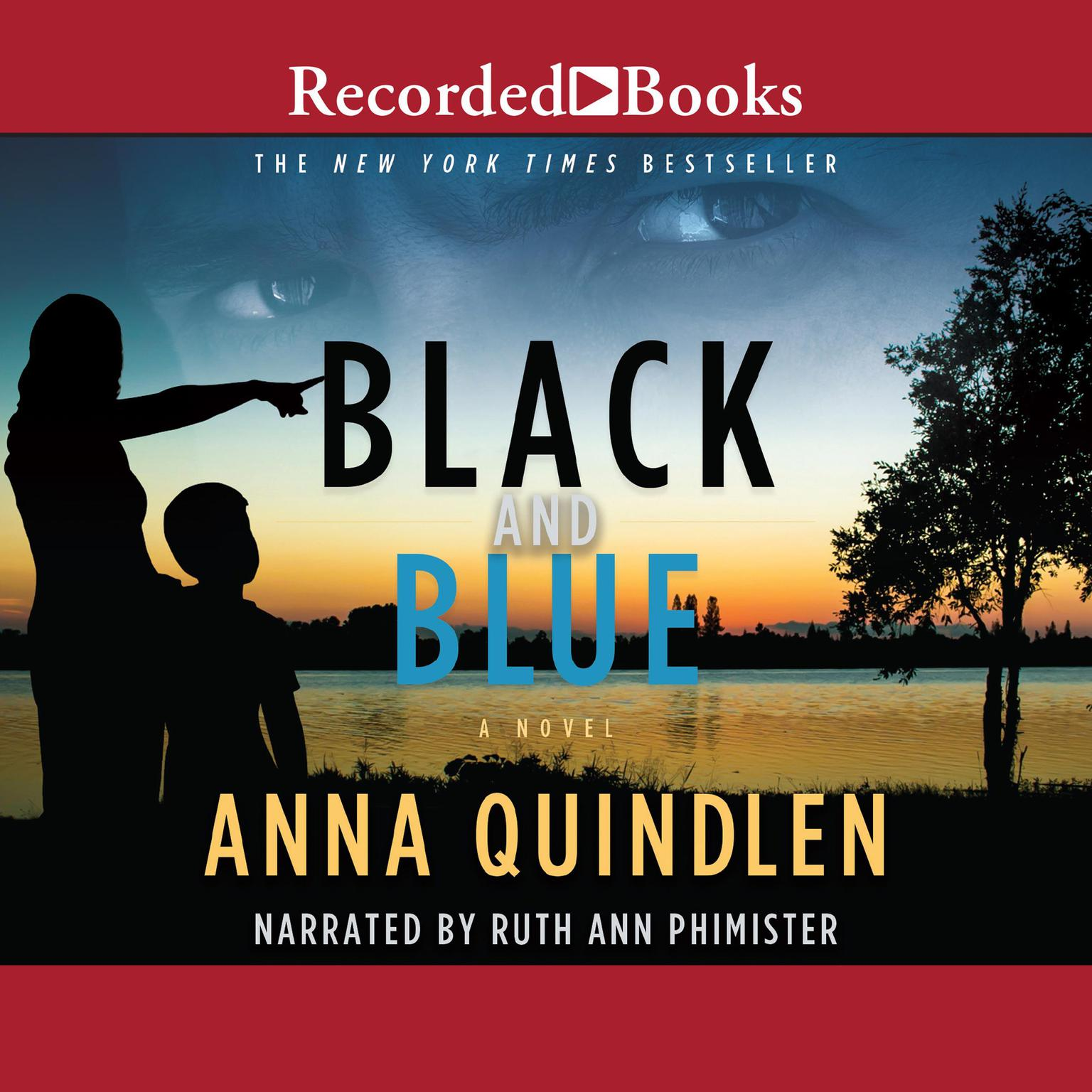 Printable Black and Blue Audiobook Cover Art