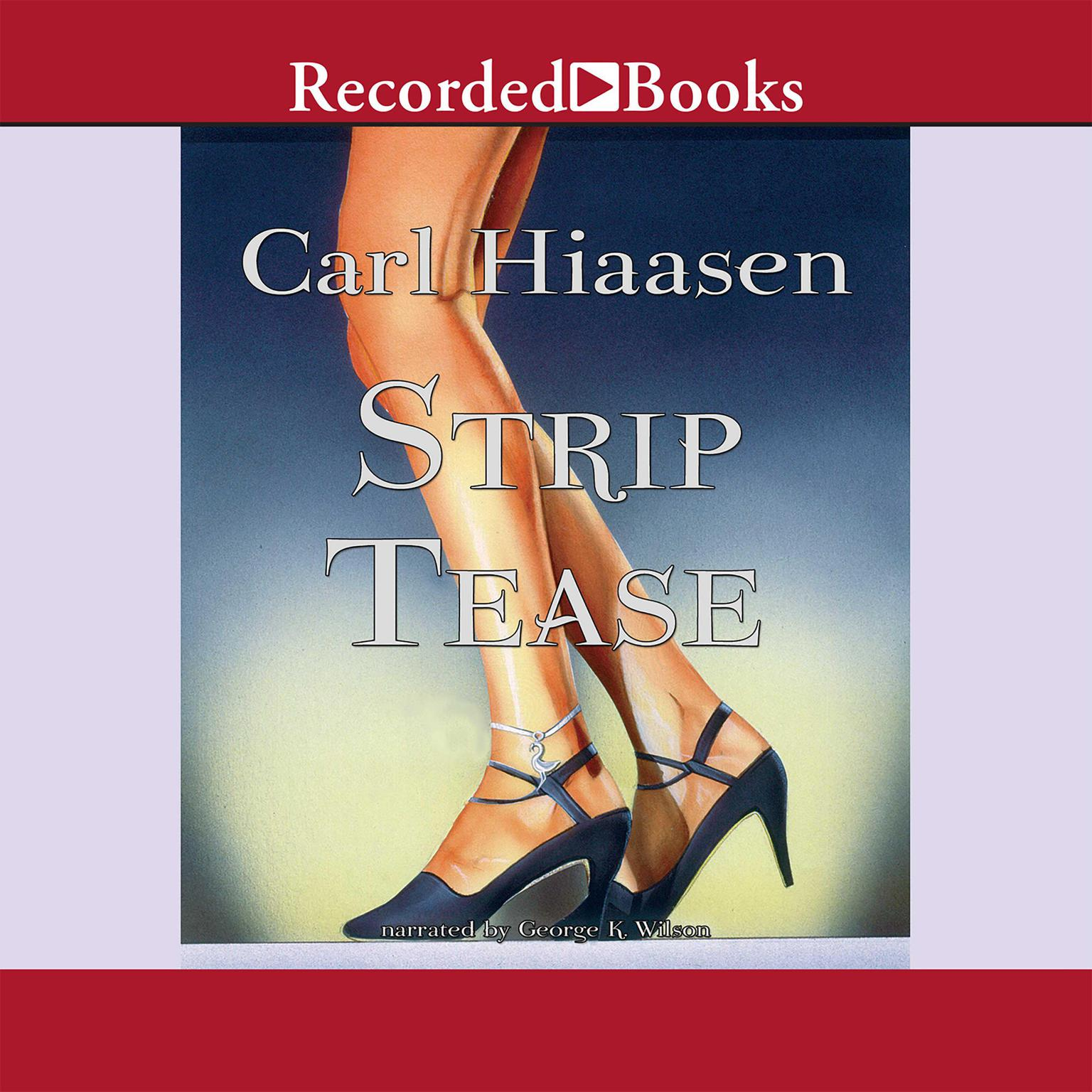 Printable Strip Tease Audiobook Cover Art