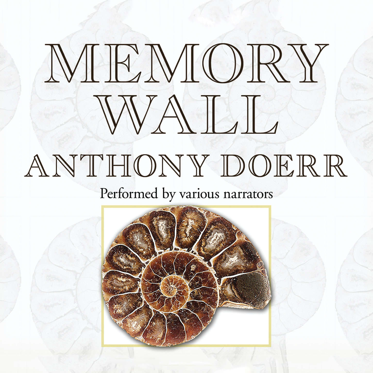 Printable Memory Wall: Stories Audiobook Cover Art