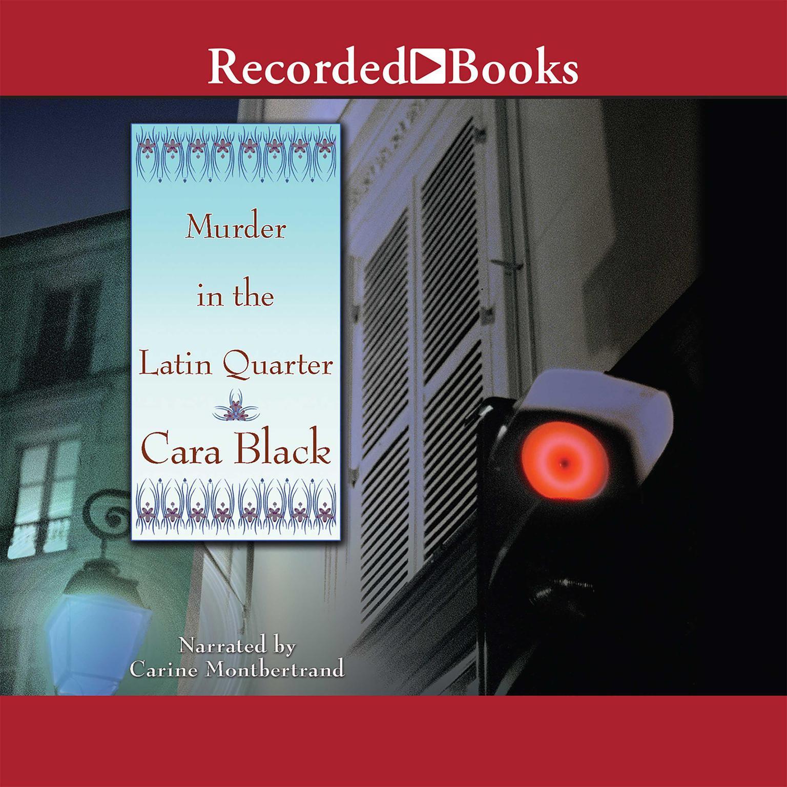Printable Murder in the Latin Quarter Audiobook Cover Art